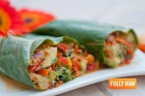 raw burrito vegan fullyraw fully recipes kristina tasty recipe dinner cucumber tuesday satisfying filling bell burritos pepper food visit fat